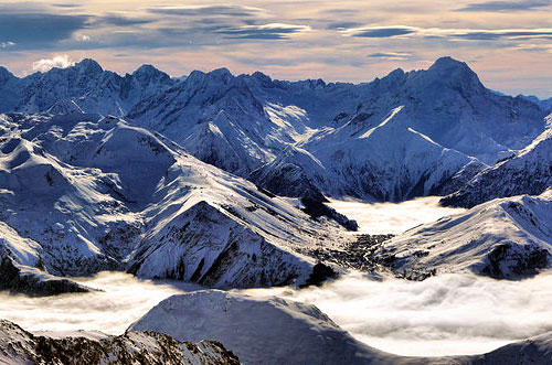 Vue panoramique sur les Alpes en Isère